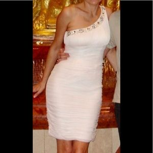 Cache one shoulder white dress
